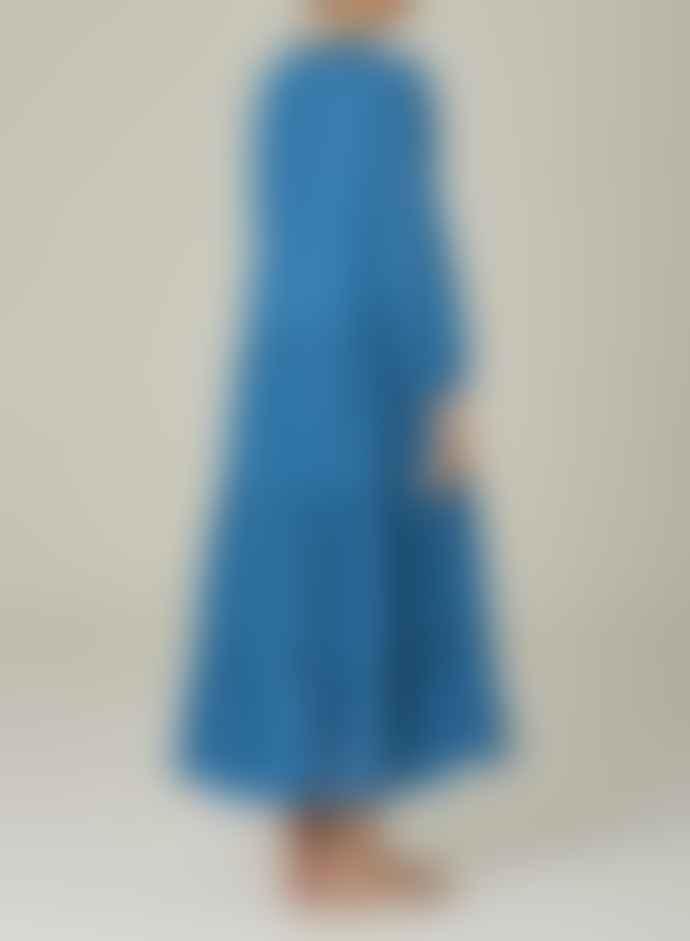 M.A.B.E Freya Dress Azure Blue