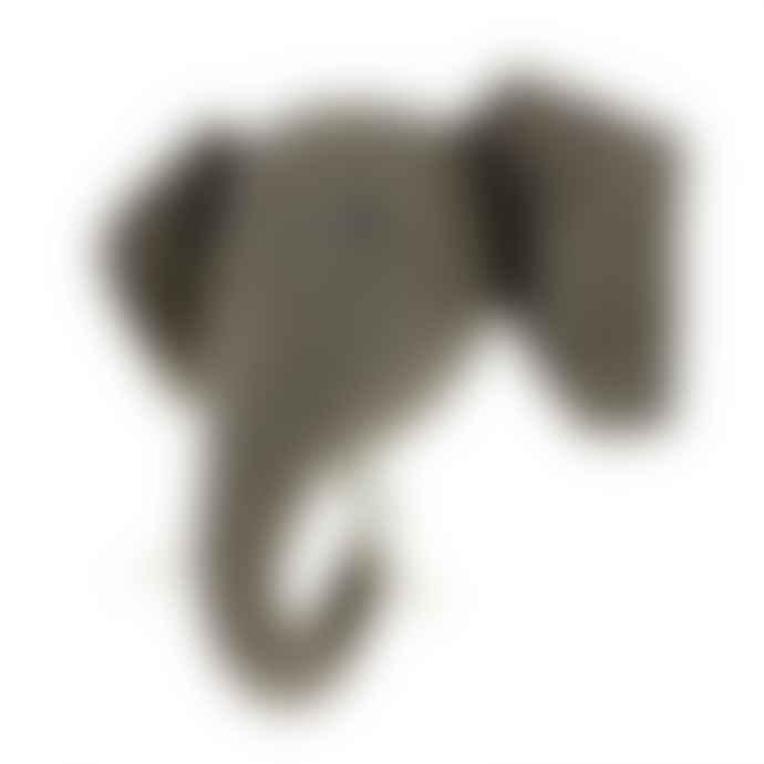 Fiona Walker England Large Grey Felted Wool Elephant Head