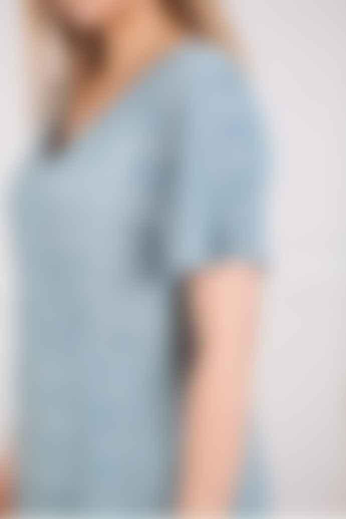 Indi & Cold Vestido Short Sleeve Dress In Agua