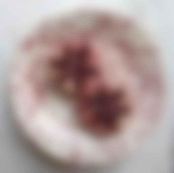 Hot Pottery Cranberry Ceramic Shallow Serving Bowl