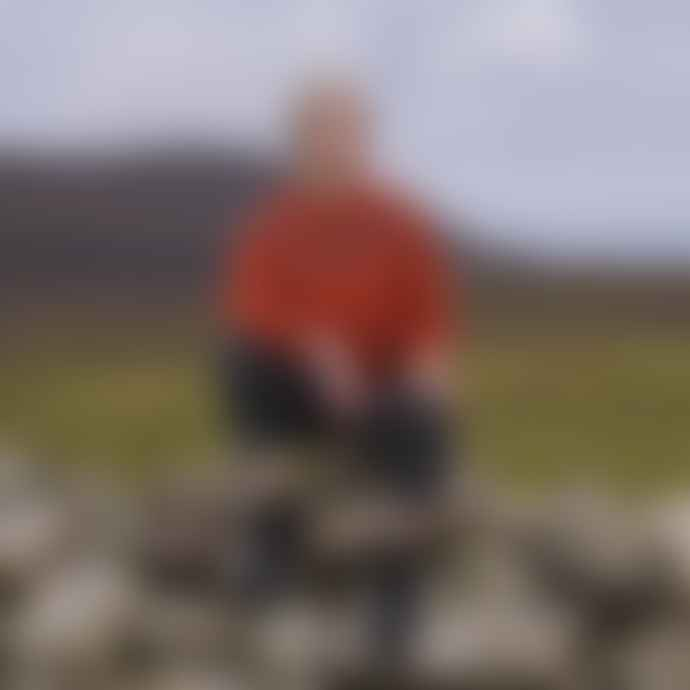 Harley of Scotland Burnt Orange Clare Fair Isle Jumper