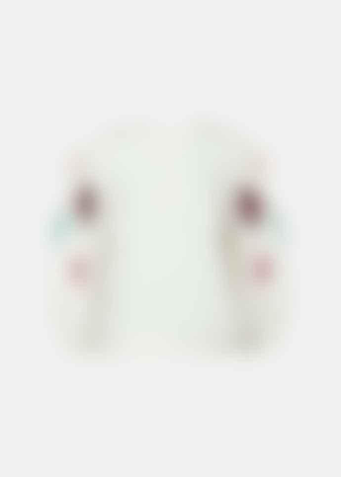 Essentiel Antwerp Off White Cotton Sequin Embroidered Sweatshirt