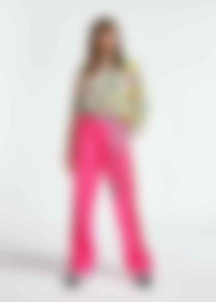 Essentiel Antwerp Pink and Green Striking Floral Print Zunco Shirt