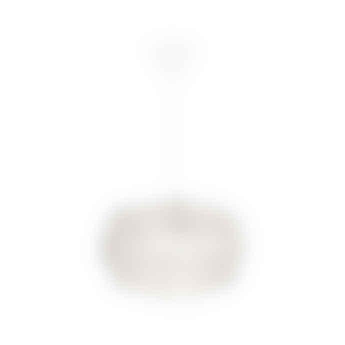 UMAGE Mini White Feather Eos Pendant Shade with White Cord Set
