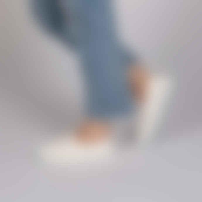 Victoria Dora Laceless Plimsoll Blanco White Shoes