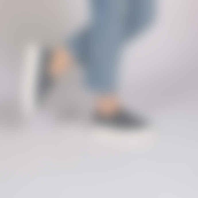 Victoria Platform Plimsoll Shoes in Jeans Blue