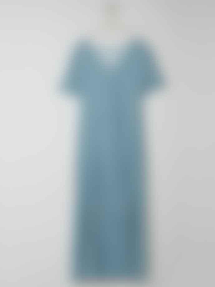 Indi & Cold Ditsy Print Dress In Agua