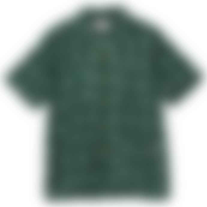 Battenwear Five Pocket Island Shirt Green Ikat