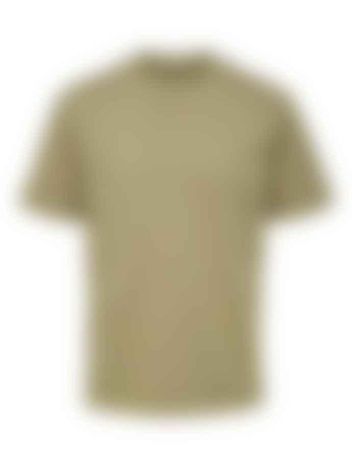 Selected Homme Aloe Green Colman Mock Neck T Shirt