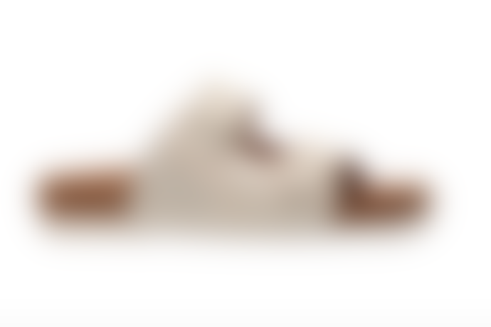 Maruti Footwear White Silver Leather Splash Bellona Hairon Sandals