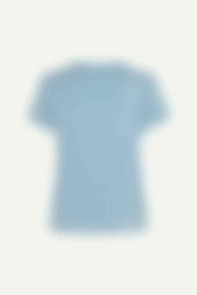 Samso Samsoe Dusty Blue Siff T Shirt