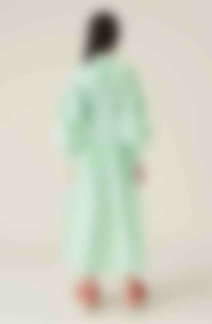 Ganni Smock Dress Kelly Green