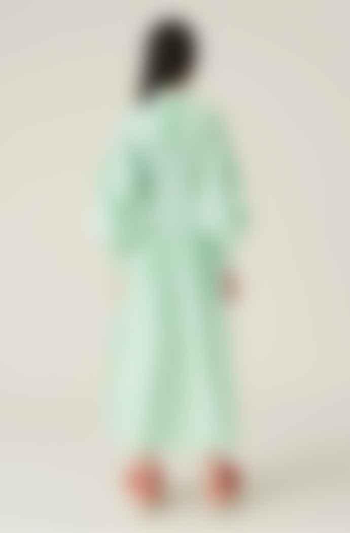 Ganni Smock Dress Kelly Green
