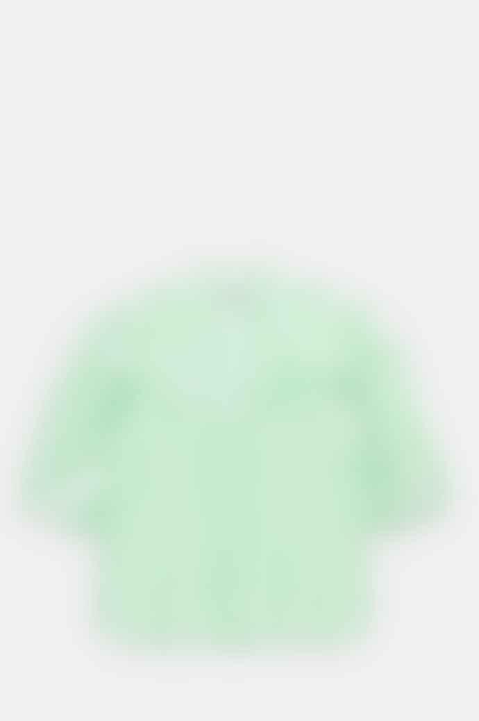 Ganni Frill Shirt Kelly Green