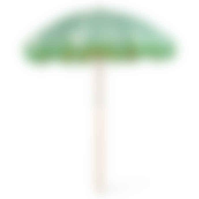 HKliving Floral Pistachio Beach Umbrella