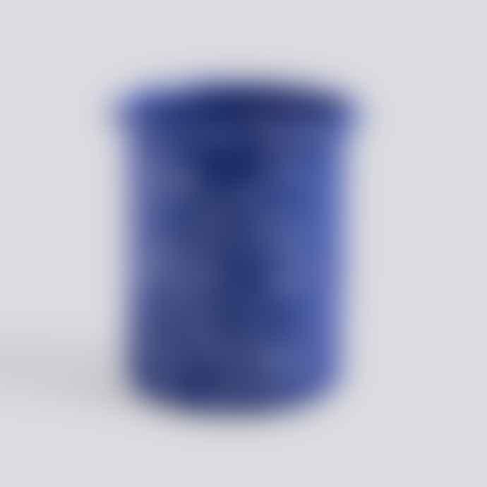 HAY Enamel Utensil Holder Speckle Blue
