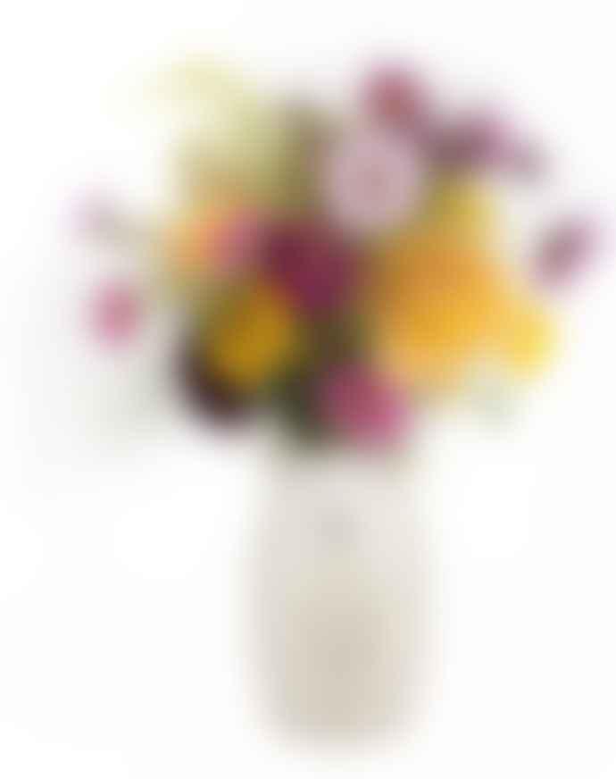 Quail Ceramics White Faced Suffolk Sheep Flower Vase