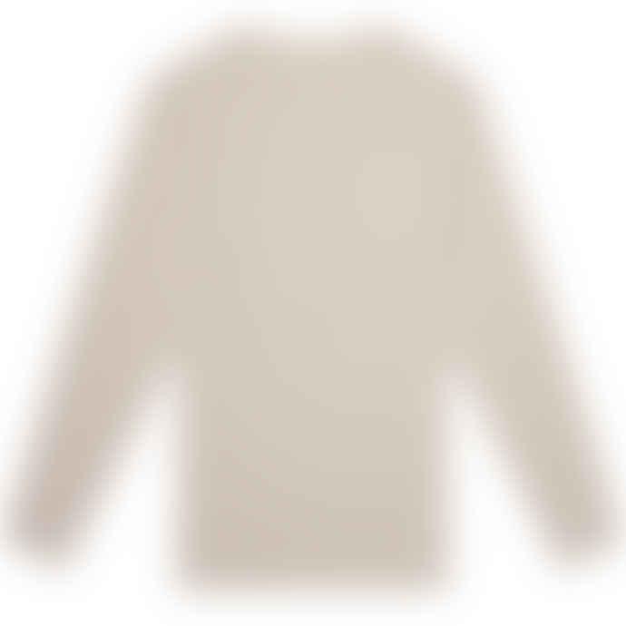 Knickerbocker Mod Stripe LS T Shirt White Tan S