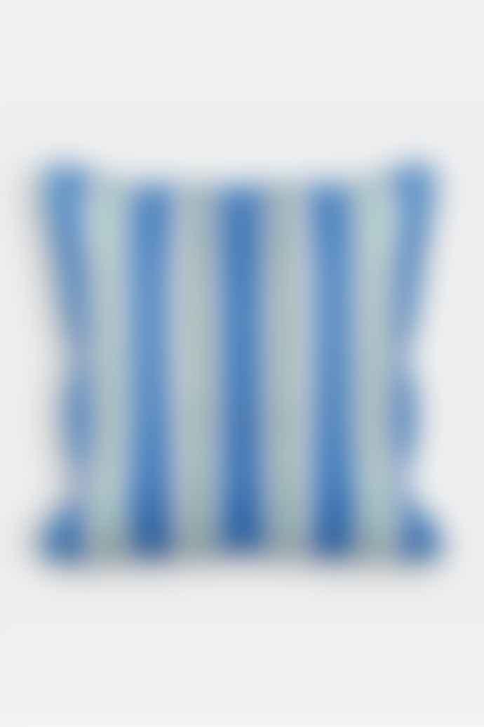 &klevering Blue Stripe Square Cushion