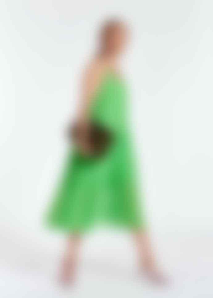 Essentiel Antwerp Zague Plisse Midi Dress