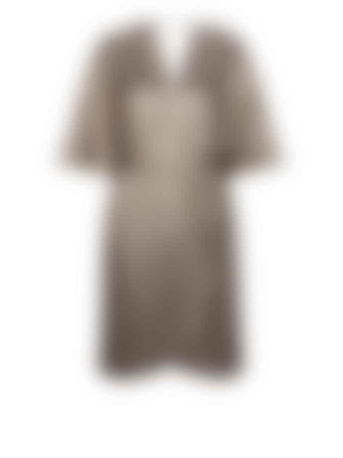 Dante6 Silverlight Dallas Metallic Jersey Dress