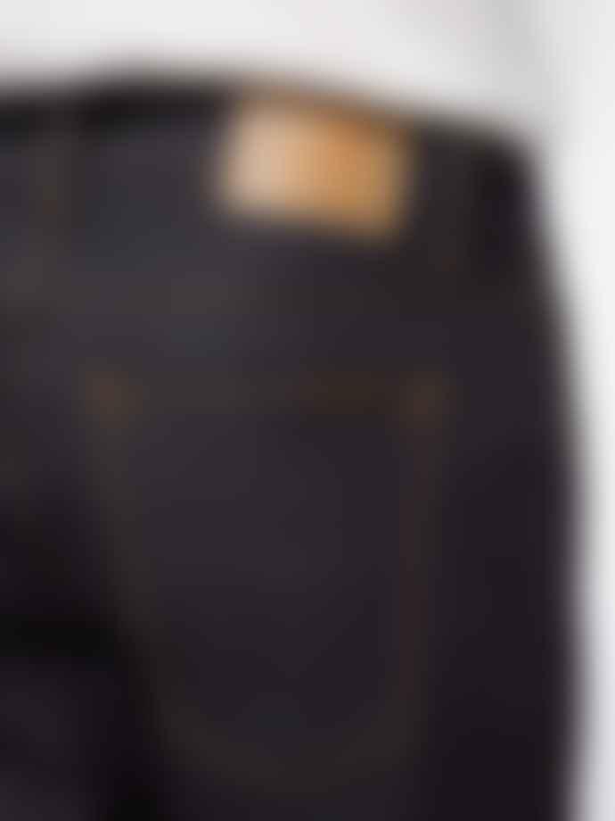 Nudie Jeans Jean Droit Brut En Coton Bio Gritty Jackson Dry Classic Navy