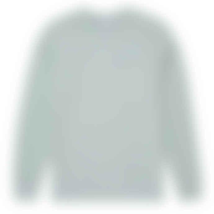 Sunspel Cotton Loopback Sweatshirt Dusky Green