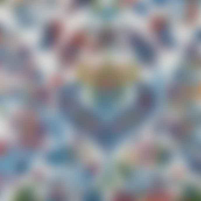 Nourison 160 x 229cm Ivory and Blue ANR06 Ankara Global Rug