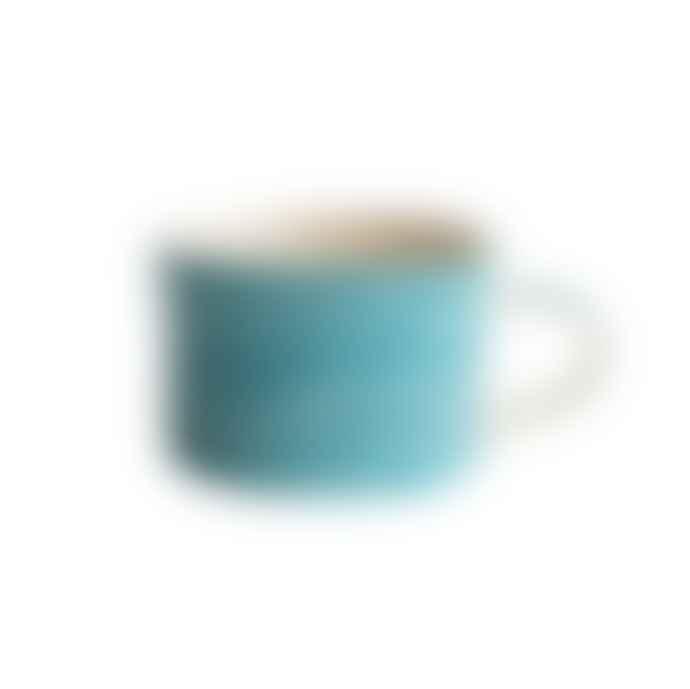 Musango Sgraffito Ceramic Mug Turquoise