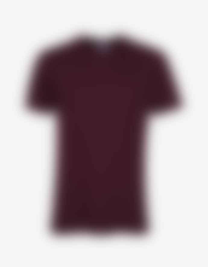 Colorful Standard T Shirt Bordeaux En Coton Bio Oxblood Red