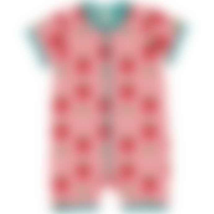 Maxomorra  Strawberry Short Sleeved Rompersuit