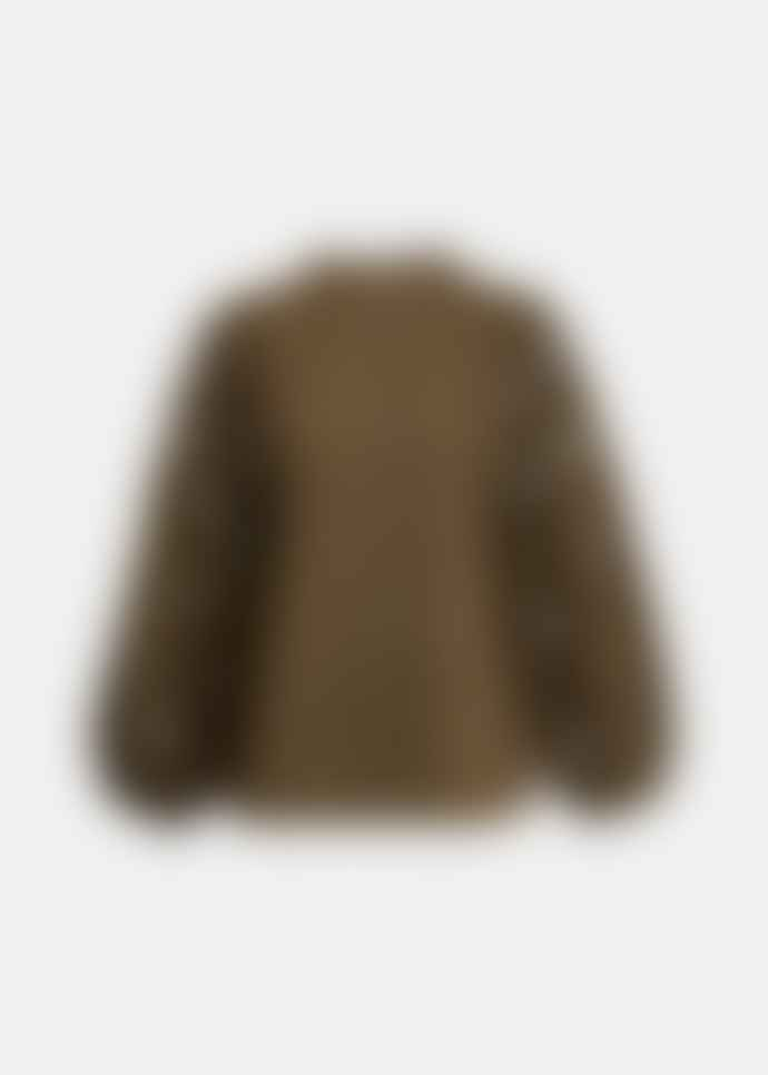 Essentiel Antwerp Khaki Puffed Sleeve Shirt