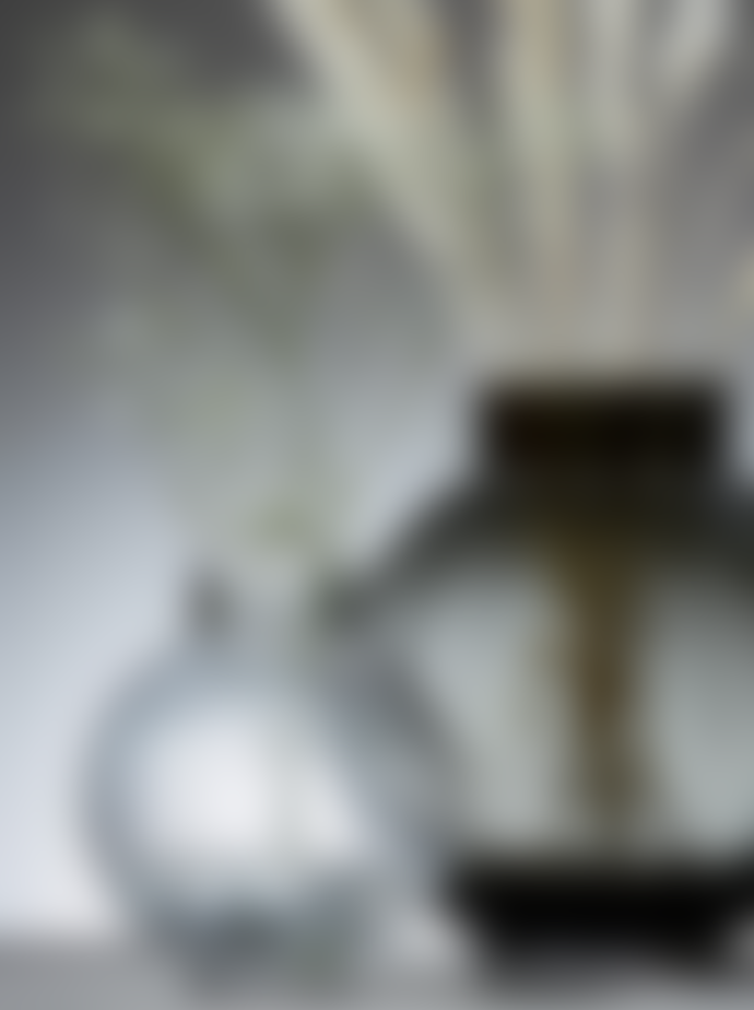 Wikholm Form Clear Round Ribbed Glass Vase Medium