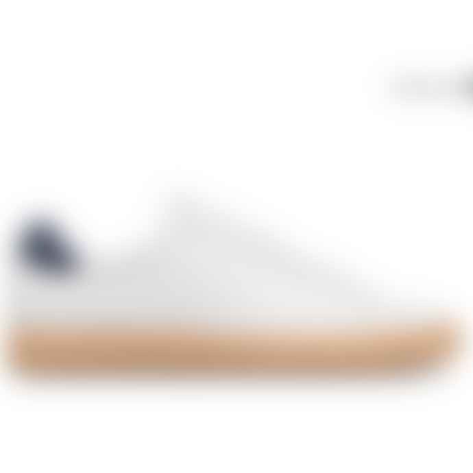 Clae Bradley Cactus Leather White Shoes