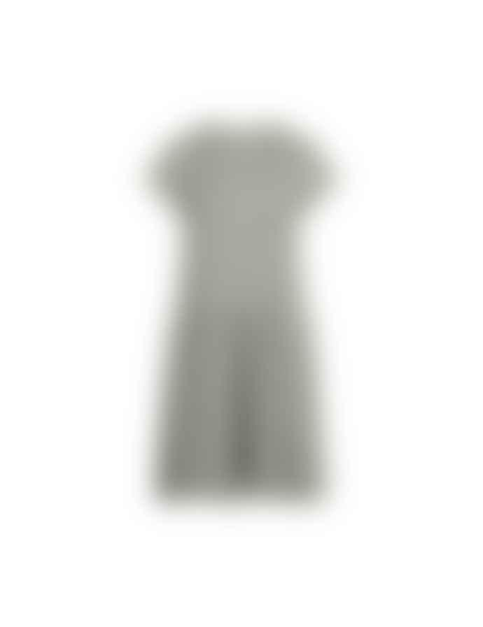 Mads Norgaard Crinckle Pop Drastica Dress, Army/Off white