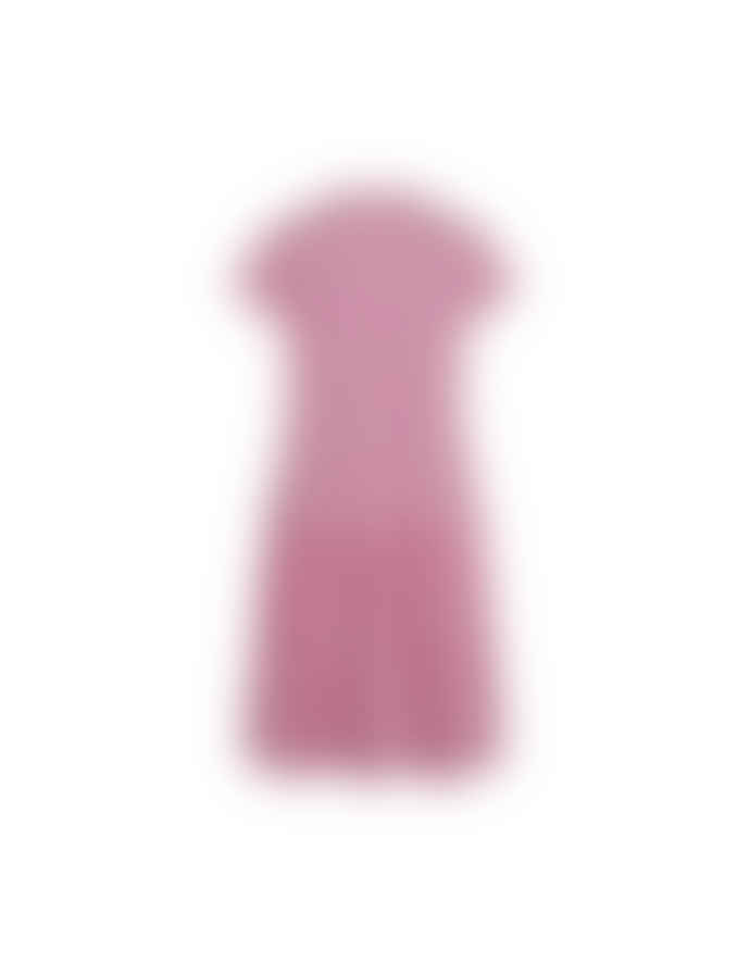 Mads Norgaard Crinkle Pop Drastica Dress Pink/White