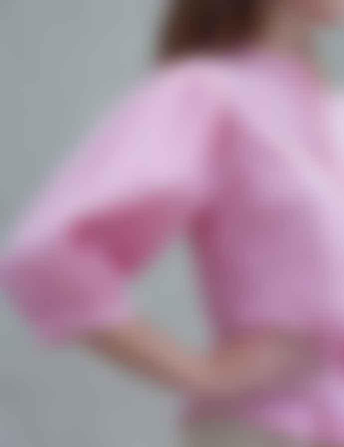 Mads Norgaard Crinckle Pop Sigga Shirt, Pink/White