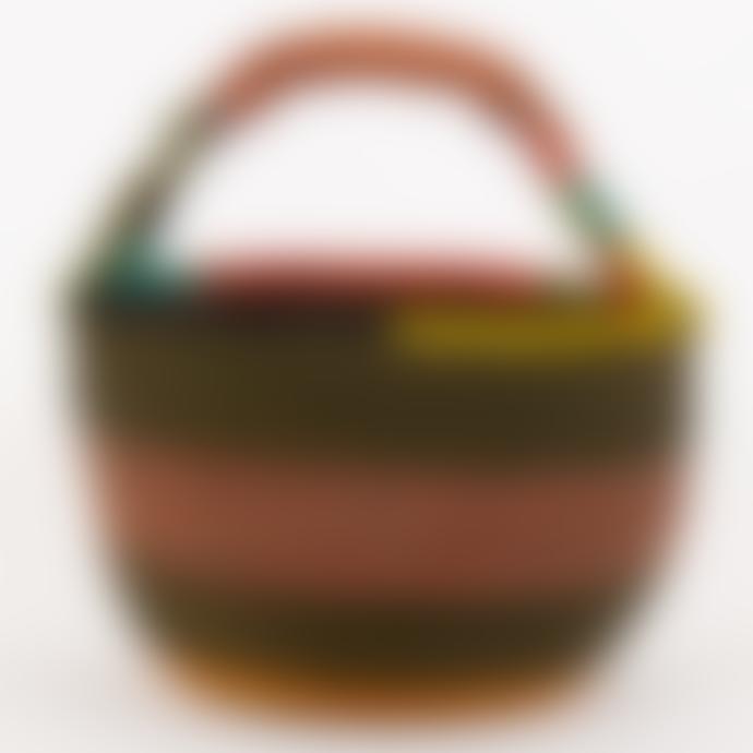 Afroart Bolga Picnic Basket Olive/Multi