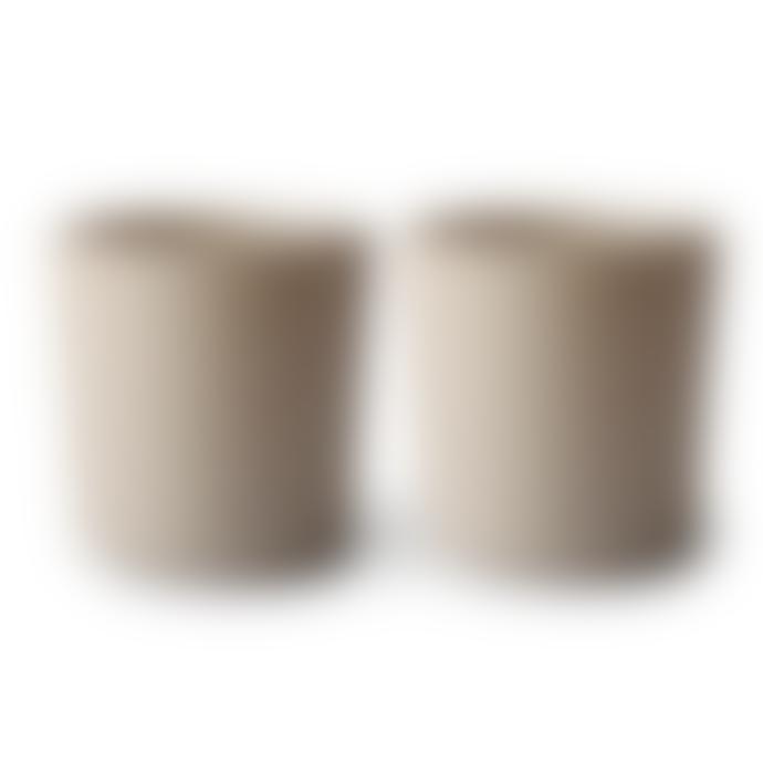 Mushie Cups Set Of 2 Vanilla