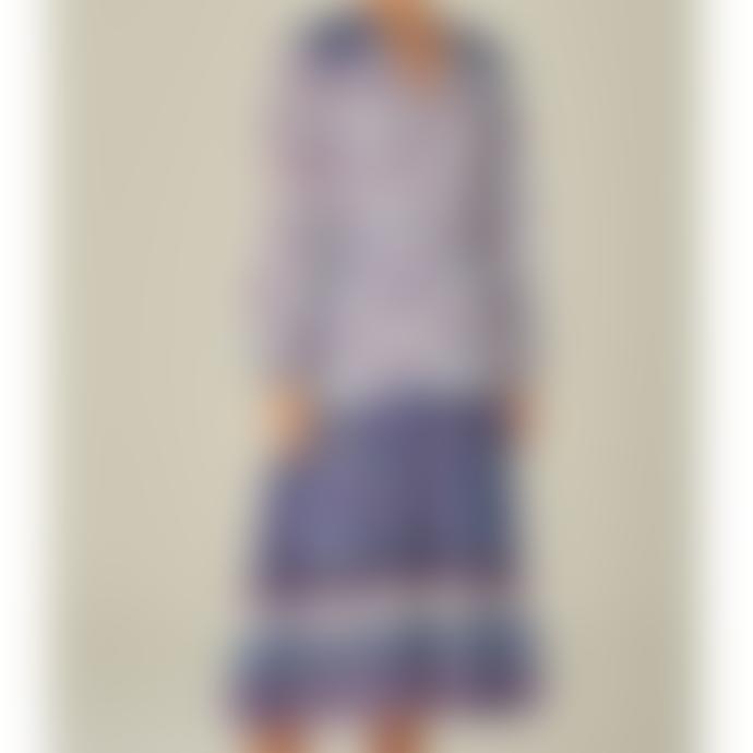 M.A.B.E Blue Floral Alma Midi Dress