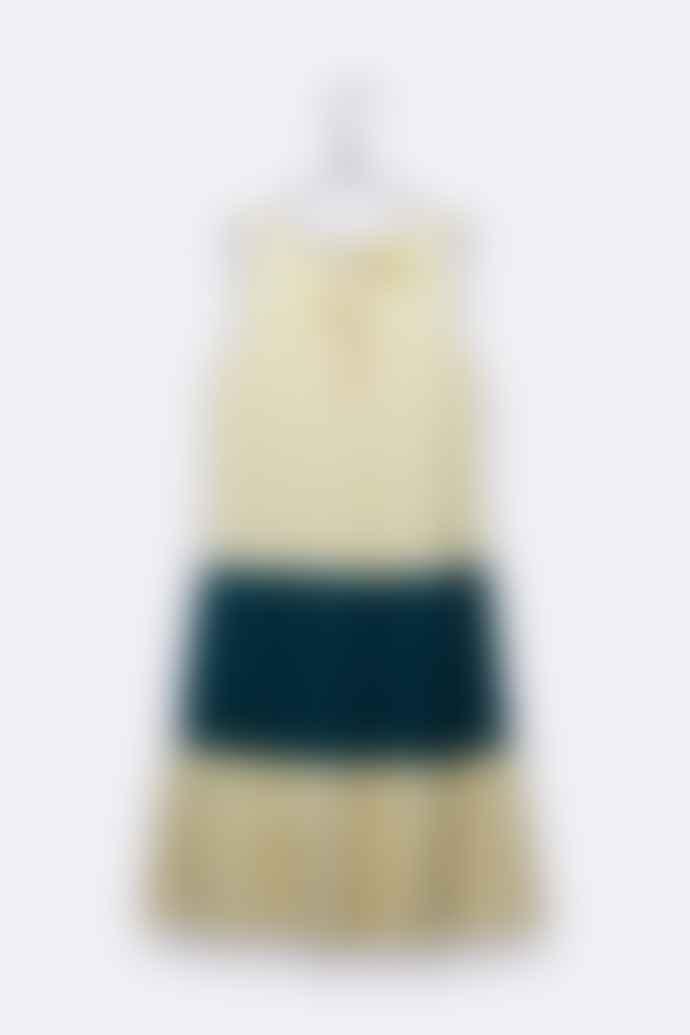 LOVE kidswear Trine Dress In Navy And Dark Plum Tyedye Organic Cotton Jersey