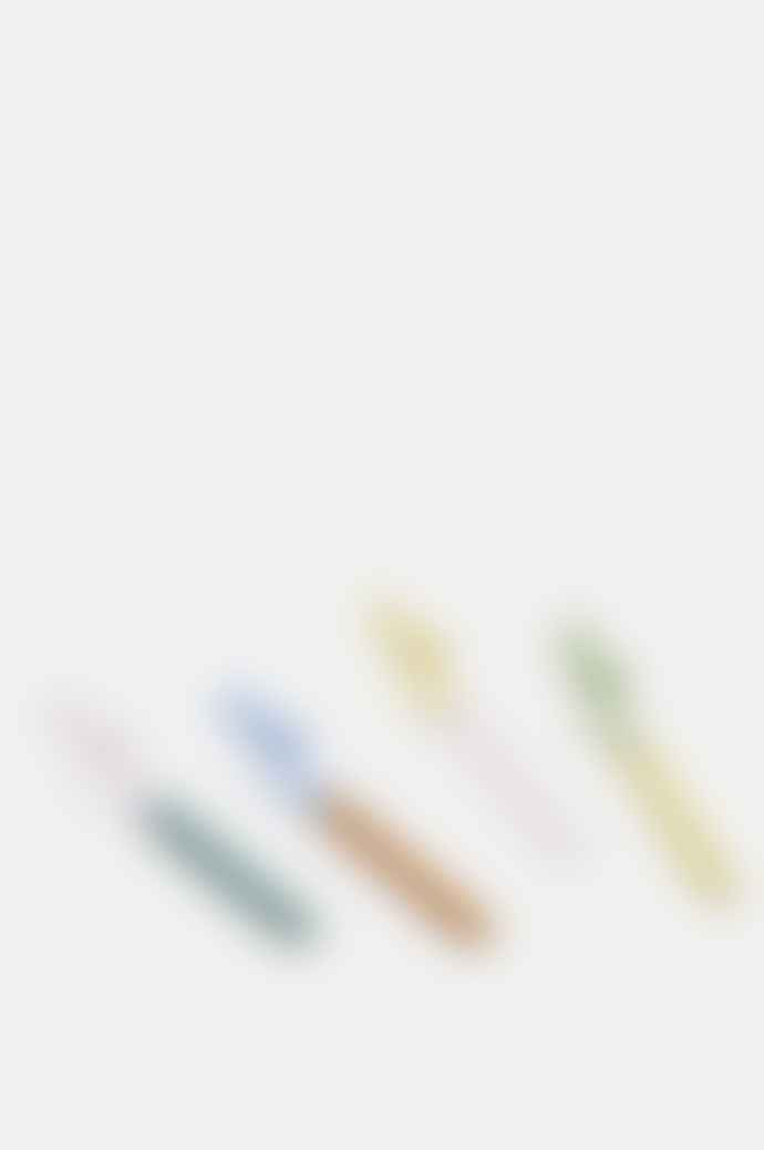 HAY Set Of 4 Multicoloured Spiral Glass Straws