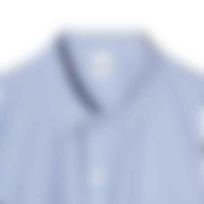 Partimento Oversize Alternate Stripe Shirt in Sky Blue