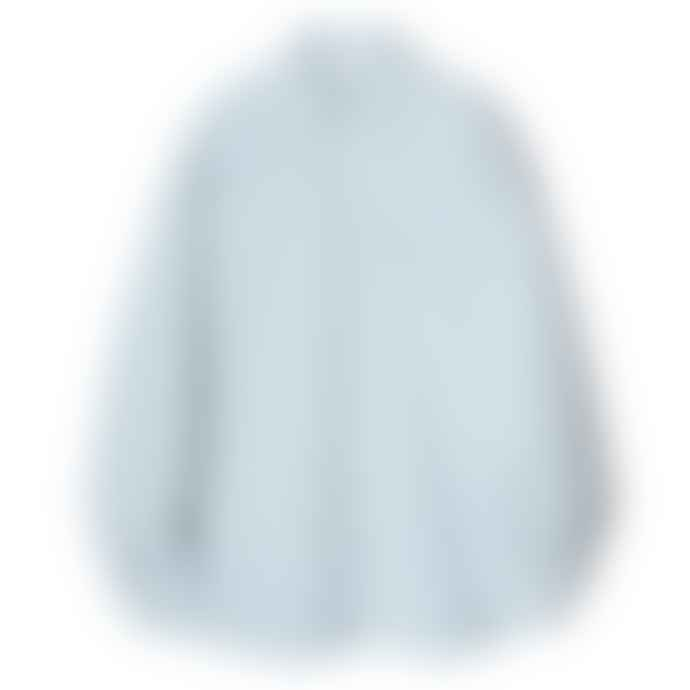 Partimento Oversize Washing Cotton Shirt in Sky Blue