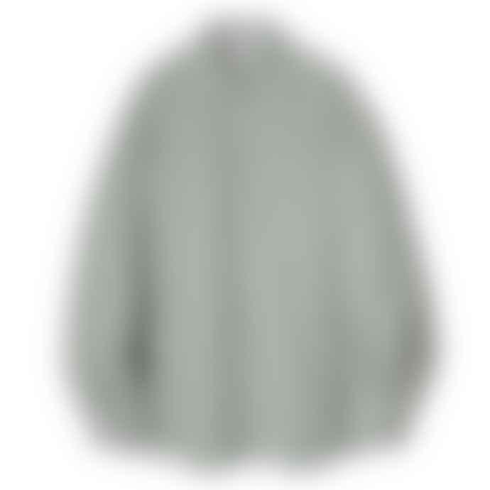 Partimento Oversize Washing Cotton Shirt in Moss Khaki