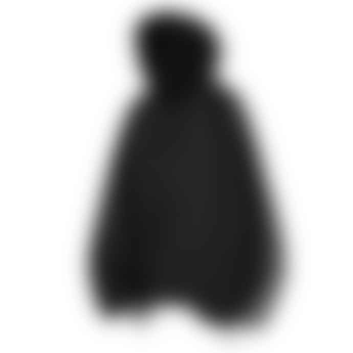 Partimento Oversize Washing Cotton Anorak in Black