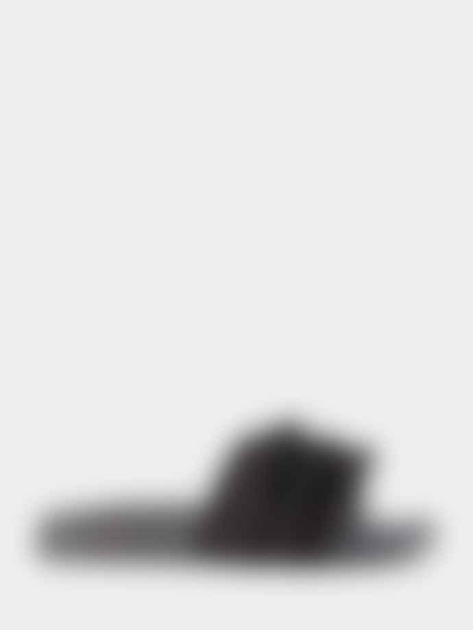 SOFIE SCHNOOR Frill Slider Sandal In Black