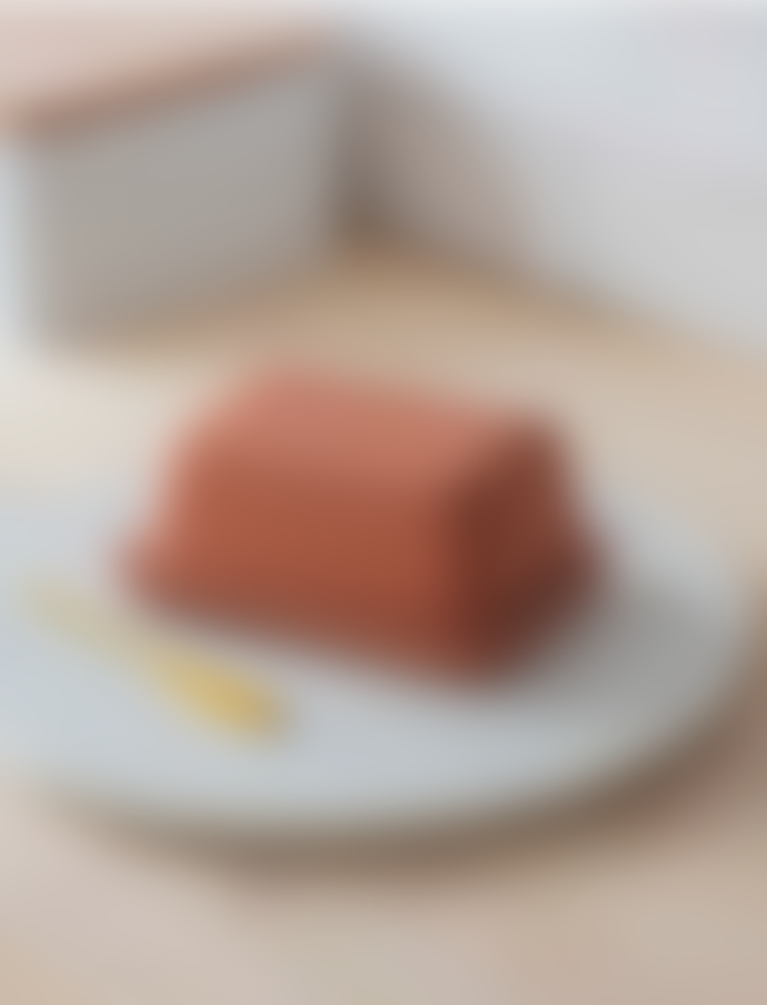 Garden Trading Red Stoneware Ceramic Butter Dish
