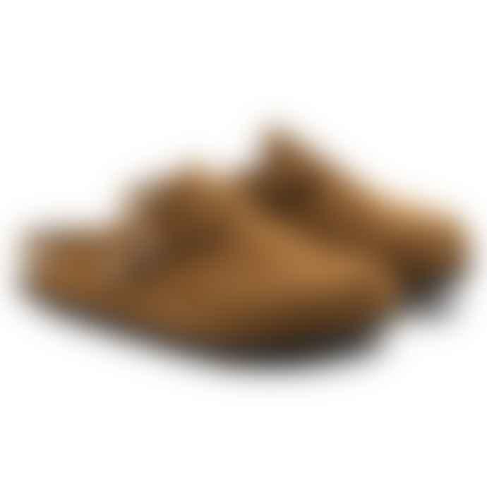 Birkenstock Boston Soft Footbed Mink Suede Leather Clog