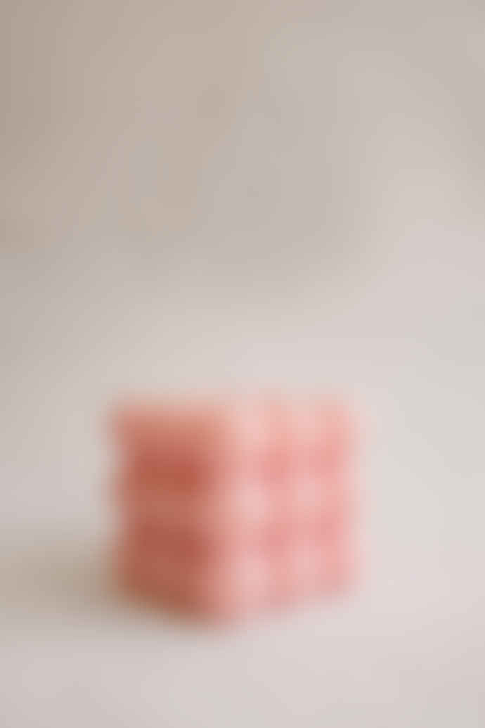 SUMMER MORNING STUDIOS Pink Bubble Candle